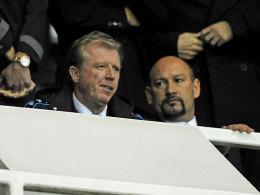 Steve McClaren am Dienstagabend bei Derbys Heimspiel gegen Ipswich