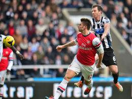 Olivier Giroud köpft das 1:0 für Arsenal