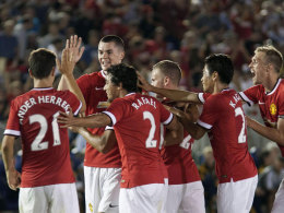 Manchester United feiert