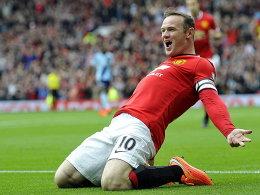 Der Kapitän geht voran: Wayne Rooney traf früh für die Red Devils.