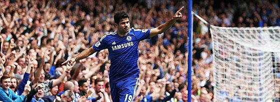 Er trifft, trifft und trifft: Diego Costa vom FC Chelsea.