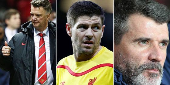Louis van Gaal, Steven Gerrard, Roy Keane