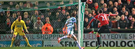 Ander Herrera trifft für Manchester United bei Yeovil Town