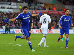 Diego Costa jubelt gegen Swansea