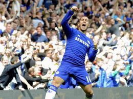 Eden Hazard jubelt über sein 1:0 gegen Crystal Palace