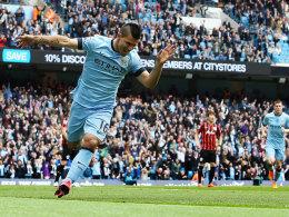 """Strahlender Schütze: Sergio """"Kun"""" Aguero knipste gegen QPR dreifach."""
