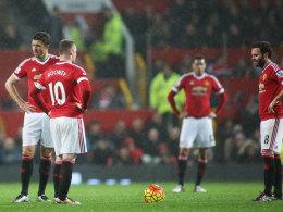 Profis von Manchester United beim 1:2 gegen Norwich