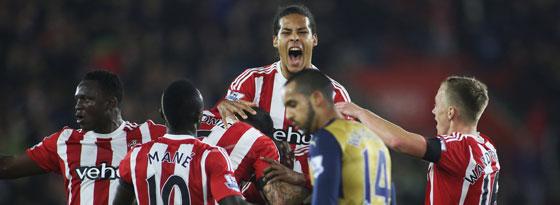 Southampton jubelt gegen Arsenal