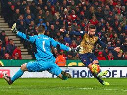 Ohne �zil: Arsenal spielt in Stoke 0:0