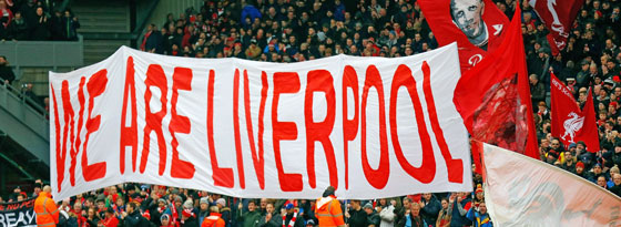 Liverpool Fans zeigen ein Banner - nun protestieren sie gegen zu hohe Ticketpreise.