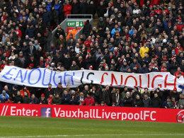 Fans des FC Liverpool beim Heimspiel gegen Sunderland