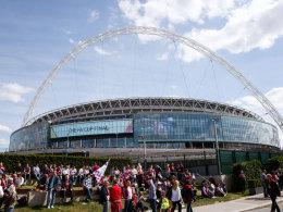 Das Wembley-Stadion beim jüngsten FA-Cup-Finale