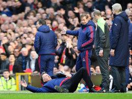 Louis van Gaal beim 3:2 gegen Arsenal