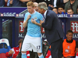 City-Coach Manuel Pellegrini hofft, Kevin de Bruyne bald wieder einsetzen zu können.