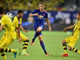 Adnan Januzaj beim Vorbereitungsspiel gegen Borussia Dortmund in Shanghai