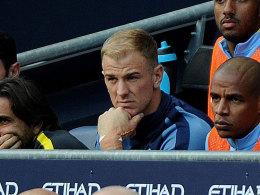 Joe Hart auf der Bank bei Manchester City
