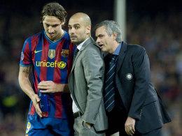 Zlatan Ibrahimovic, Pep Guardiola und José Mourinho