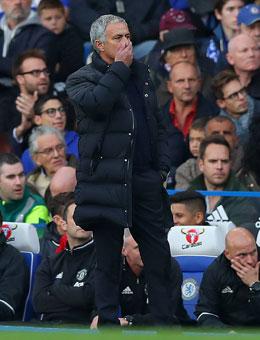 Ein Foto von José Mourinho an der Stamford Bridge