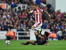 Dank Debütant Jesé: Stoke schlägt den FC Arsenal
