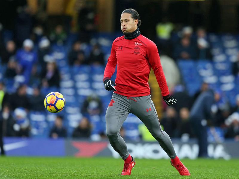 Er wirft sich ab Januar für den FC Liverpool in die Zweikämpfe Verteidiger Virgil van Dijk