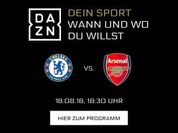 Chelsea vs. Arsenal: Die Premier League live bei DAZN