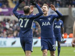 Dank Eriksen: Spurs siegen locker in Swansea