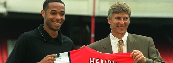 Arsene Wenger mit Thierry Henry