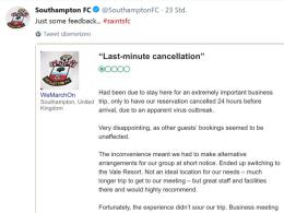 Southamptons großartige Reaktion auf Hotel-Posse