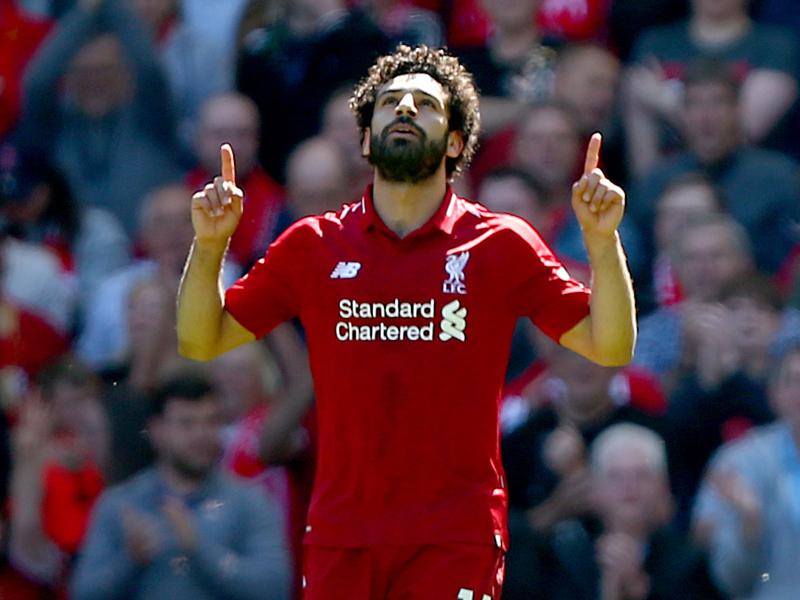 Liverpool Torjager Mohamed Salah Jubelt Auch Gegen Brighton