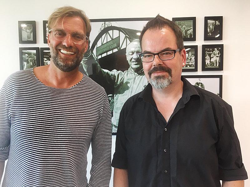 Jürgen Klopp und kicker-Redakteur Andreas Hunzinger