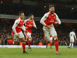 Özil zeigt sich spät: Frustrierte retten Arsenal