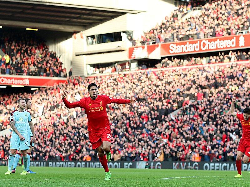 Emre Can sorgt für Liverpools 2:1-Sieg gegen Burnley