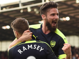 Girouds Doppelpack hält Arsenal im Rennen