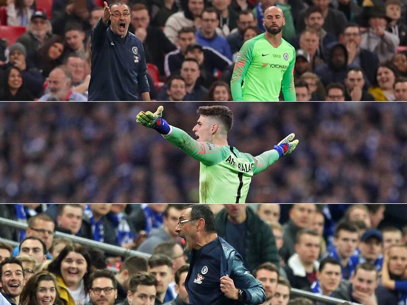Der Eklat Mit Keeper Kepa Chelsea Trainer Maurizio Sarri Vor Dem