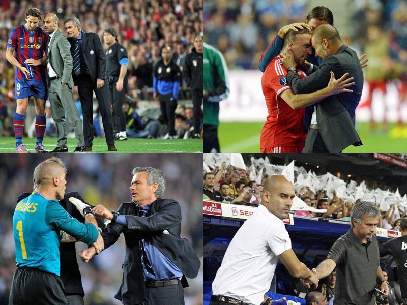 Flüsterpost, Emotionen, Gerangel: Pep Guardiola und José Mourinho - keine Liebesgeschichte.