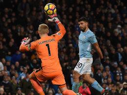 Vier Treffer: Aguero ist Leicesters Albtraum