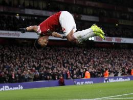 Arsenal nur vorne stark - Aubameyang trifft doch noch