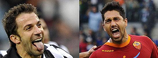 Alessandro del Piero (Juventus Turin), Marco Borriello (AS Rom)