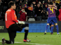 Alves, Fabregas und Xavi