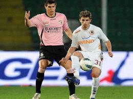 Borini (li.) war der Matchwinner für die Roma in Palermo.