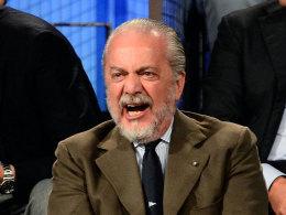 Napoli-Präsident Aurelio de Laurentiis bei der Präsentation des neuen Serie-A-Spielplans
