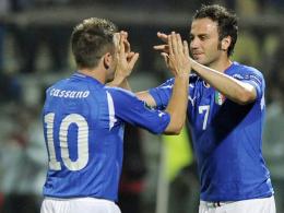 Antonio Cassano und Giampaolo Pazzini