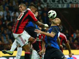 Voller Derby-Einsatz: Boateng gegen Gargano.