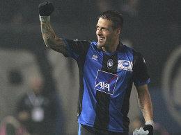 Doppelpack: German Denis schoss Atalanta Bergamo zum Erfolg über Inter.