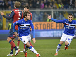 Andrea Poli bejubelt sein Tor zum 1:0