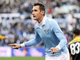 Aufatmen: Lazio-Stürmer Miroslav Klose steht wohl gegen Inter Mailand wieder bereit.