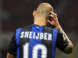 Quo vadis, Wesley Sneijder? Der Niederländer lehnt ein Vertragsangebot Inters zu geringeren Bezügen ab.