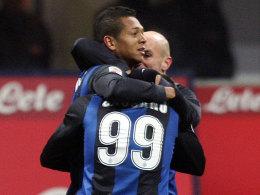 Freddy Guarin brachte Inter mit seinem Treffer gegen Napoli auf die Siegerstraße.