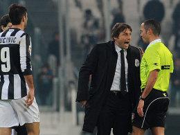 Juve-Coach Antonio Conte verliert die Nerven.