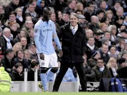 Mario Balotelli und Roberto Mancini